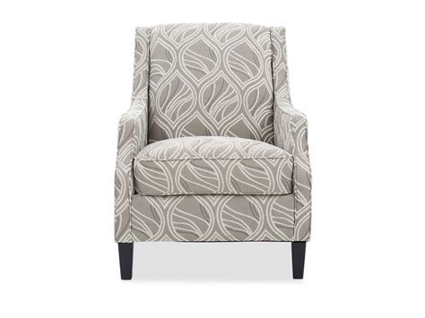 leaf patterned contemporary  accent chair  beige