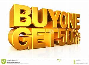 3d gold text buy 2 get 50 percent off stock illustration With buy 3d letters