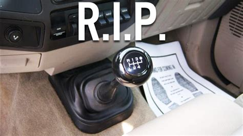 manual transmission  dead    coming