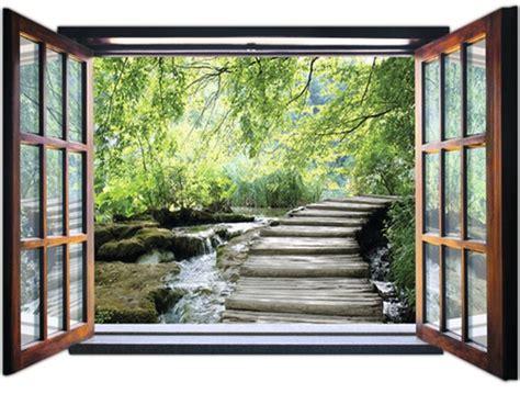 Fototapete Fenster Aussicht by Fototapete 2077 Vez4xl Vlies Fenster Mit Bach 201 X 145 Cm