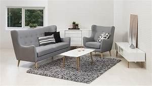 3 Sitzer Sofa : garnitur kamma retro 3 sitzer sofa sessel stoff hellgrau ~ Bigdaddyawards.com Haus und Dekorationen