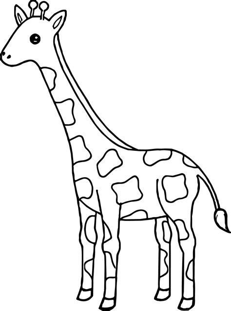 nice tall giraffe coloring page wecoloringpage giraffe