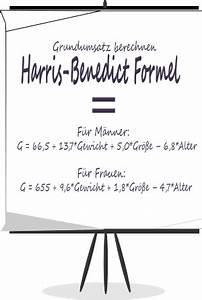 Formel Grundumsatz Berechnen : harris benedict formel grundumsatz ganz einfach berechnen ~ Themetempest.com Abrechnung