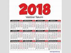 Vektörel 2018 Takvimi Vektörel Çizim