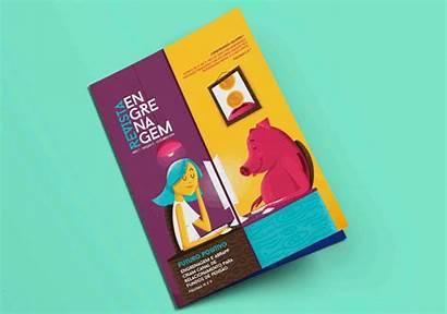 Mockups Magazine Graphic Mockup Creative Template Flyer