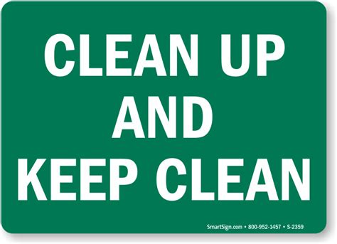 Kitchen Clean Up Signs by 10 Quot X 14 Quot H X W