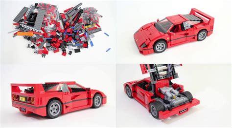 Building A Lego Ferrari F40 In Time-lapse
