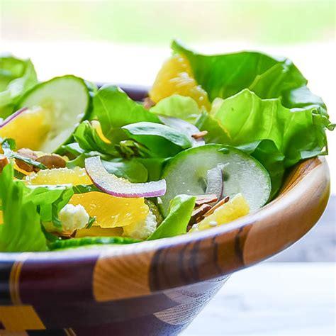simple citrus almond salad garlic zest