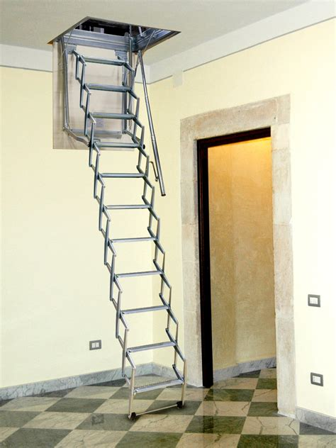 retractable staircase galvanized steel retractable stair starlux by luxin