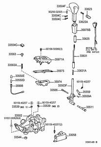 1997 Toyota Camry Pin  Grooved  For Detent Rod   Pin