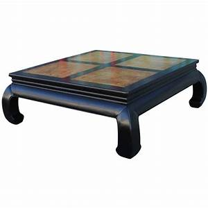 two tone burl wood ming style square coffee table by With two tone wood coffee table
