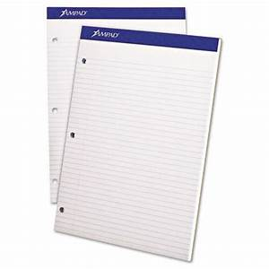 ampad white dual pad letter size 3 hole punched With letter size pad