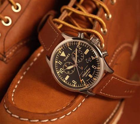 timex japan  red wing shoes waterbury watches white