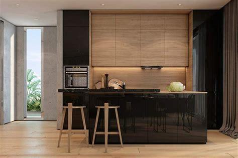 modern wood kitchen design d 233 cor do dia preto e madeira na cozinha casa vogue 7794