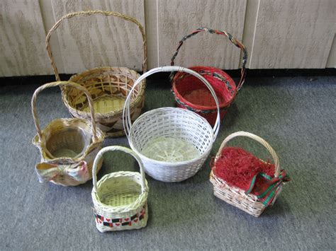 home design gifts lot of 6 wicker baskets home decor gift baskets ebay
