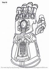 Infinity Avengers Gauntlet Coloring Draw War Marvel Iron Drawing Thanos Step Drawings Fortnite Colorir Learn Colorear Ausdrucken Zum Endgame Superhero sketch template