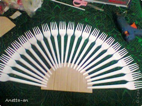 diy decorative fan  plastic forks