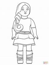 Coloring American Doll Pages Grace Saige Template Printable Printables Templates sketch template