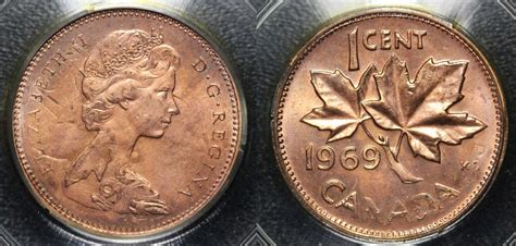 numicanada  cent  valeur des pieces de monnaie