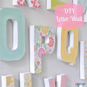 Diy letter wall decor the love nerds for Letters to put on wall