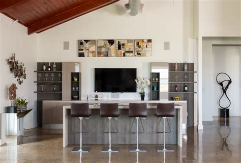 Contemporary Home Bar by 17 Extravagant Contemporary Home Bar Designs That Are
