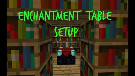 minecraft enchantment table set  max enchantment