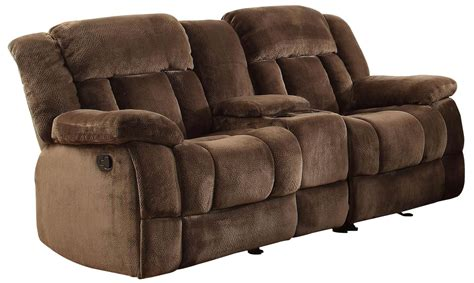 traditional sofa set price laurelton chocolate glider reclining loveseat with