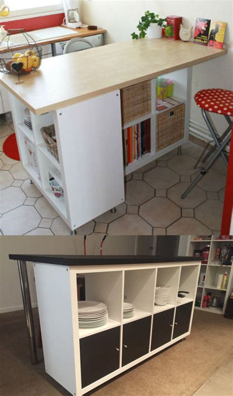 customiser un bureau ikea hack détourner et customiser une étagère kallax