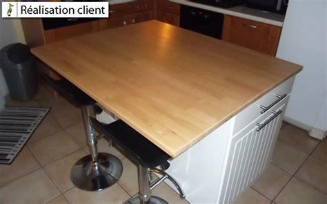 cuisine sur la 2 ilot central de cuisine sur mesure le du bois