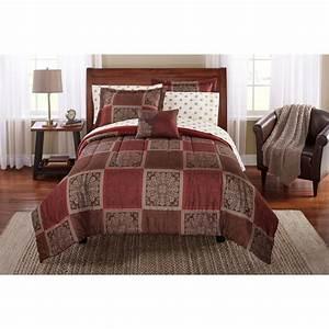 Mainstays, Tiles, Bed, In, A, Bag, Bedding, Comforter, Set, King