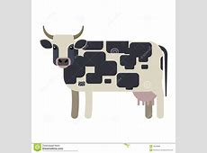 Cow Vector Illustration Stock Vector Image 46538989
