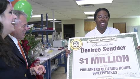 publishers clearing house winner today pch october 23rd 1 million winner desiree scudder