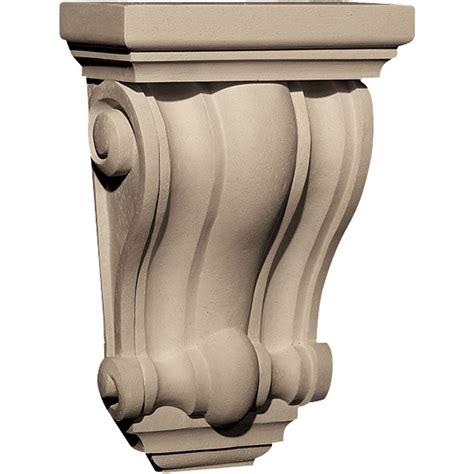 Resin Corbel by Pearlworks Cb 306 Traditional With Concave Convex Ridges