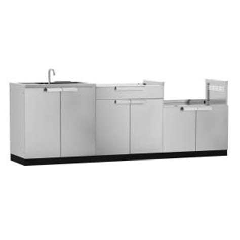 home depot outdoor kitchen cabinets newage products stainless steel classic 3 97x36x24 7143