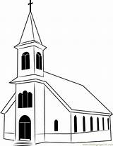 Church Coloring Ignatius St Pages Coloringpages101 sketch template