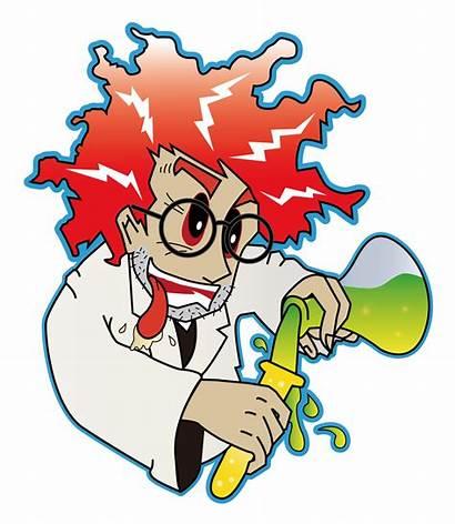Scientist Mad Clipart Clip Cartoon Science Lab