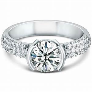 Semi Bezel Engagement Ring Wedding And Bridal Inspiration
