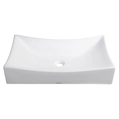 white porcelain bathroom sink aquaterior white porcelain ceramic bathroom vessel sink