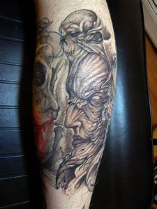 alan barbosa tattoo evil by alanbarbosatattoo on DeviantArt