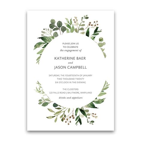Categories Engagement Invitation Card