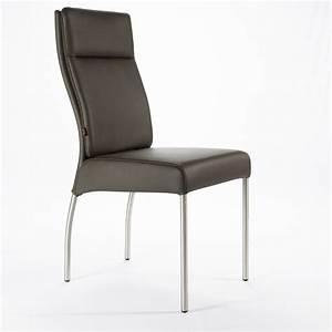 Designer Stühle Leder : lederstuhl gatto braun edelstahl lederst hle esszimmer st hle kaufen bei six markenm bel ~ Watch28wear.com Haus und Dekorationen