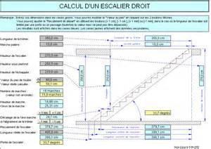 Calcul Marche Escalier Exterieur by Calcul D Un Escalier Droit