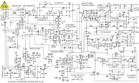computer power supply schematic  operation theory