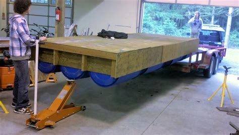 wooden floating dock plans rollingbargecom