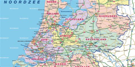 Karte Küste Holland