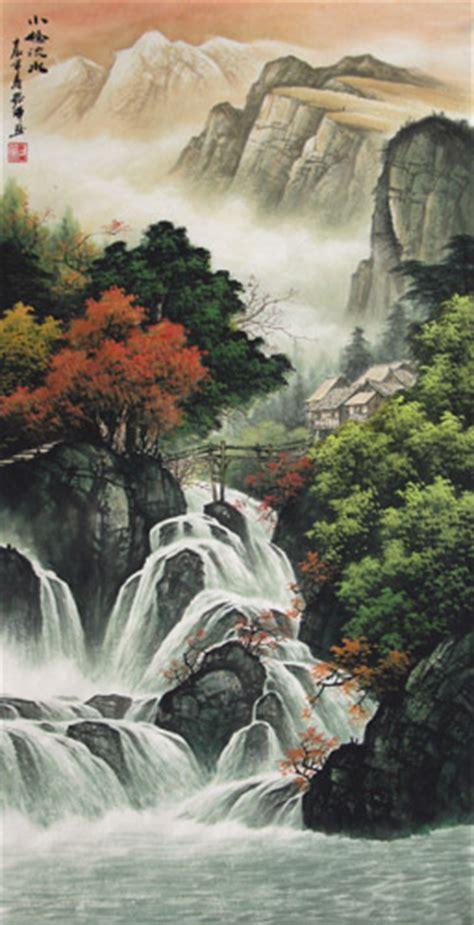 chinese waterfall painting  cm  cm