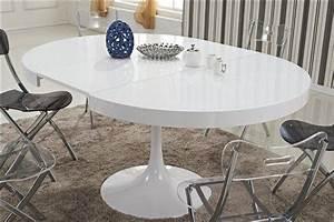 Tables Rondes Extensibles : table ronde extensible tulipe blanche ~ Teatrodelosmanantiales.com Idées de Décoration