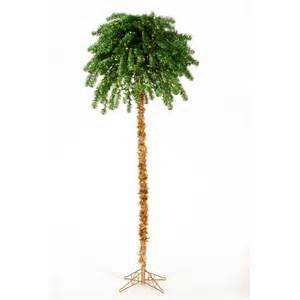 shop vickerman 7 ft pre lit palm artificial christmas tree with 450 count multicolor