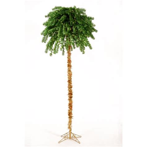 shop vickerman 7 ft pre lit palm artificial christmas tree