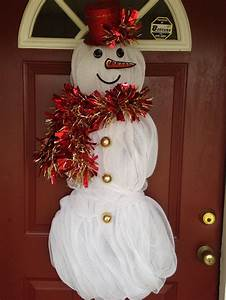 Deco Mesh Snowman Instructions  Crafts For Seniors  Easy